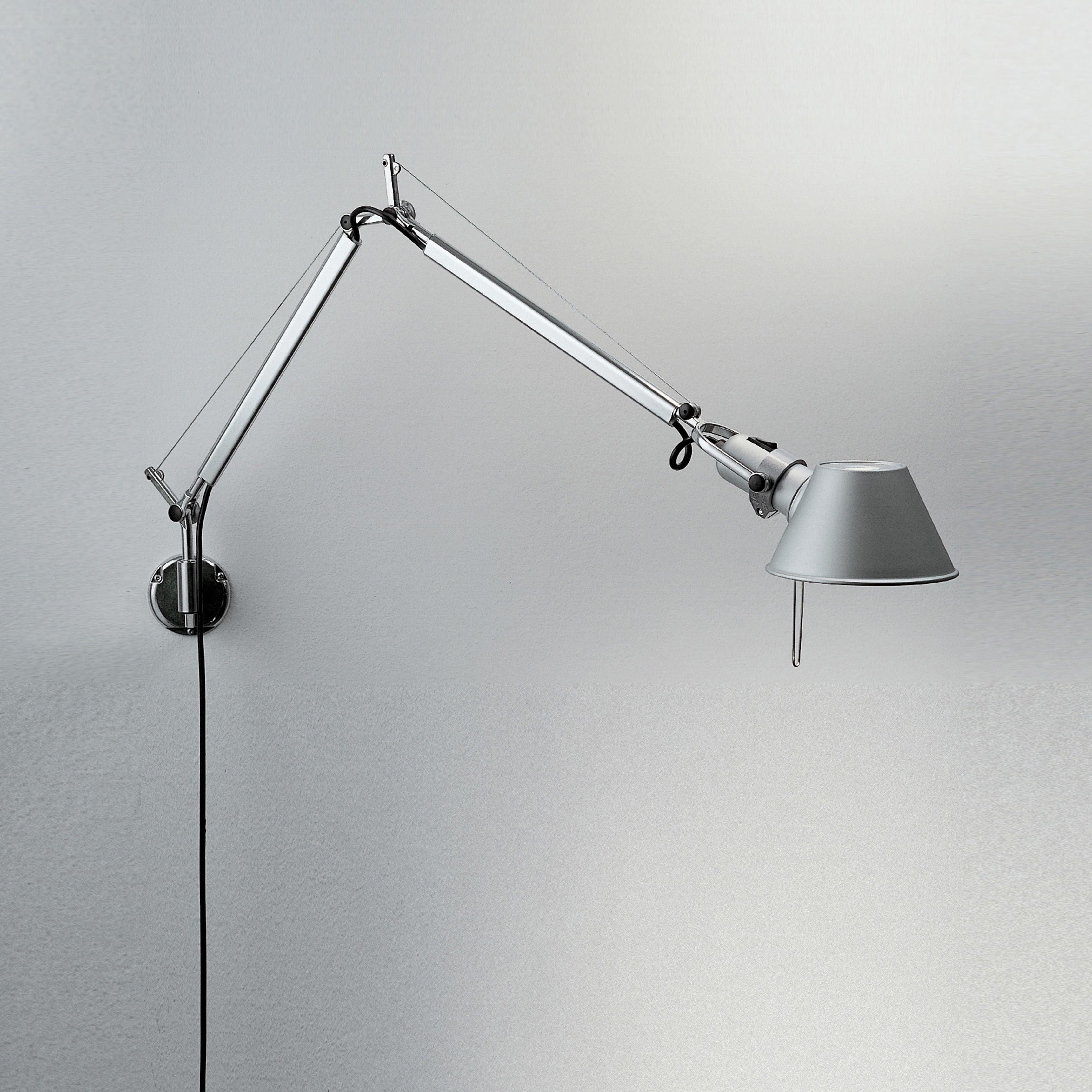 Luminaire - Appliques - Applique Tolomeo micro Wall LED / Bras articulé - L 49 cm - Artemide - L 49 cm / Aluminium - Aluminium