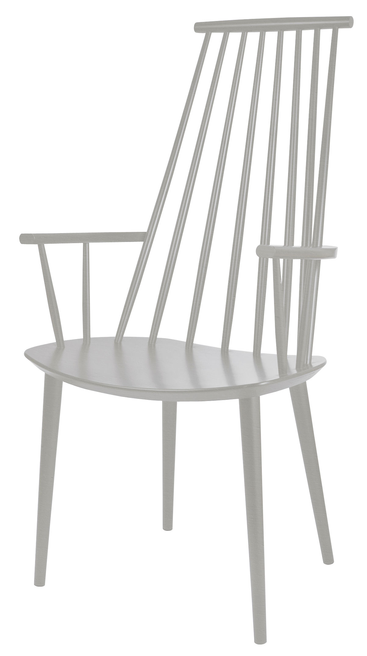 Furniture - Chairs - J110 Armchair - / Wood by Hay - Light grey - Lacquered beechwood