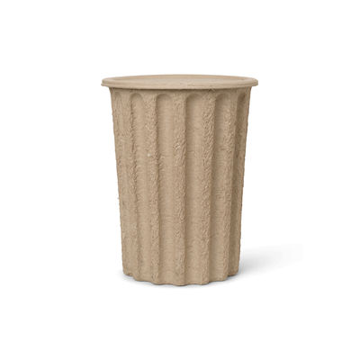 Decoration - Bins - Paper Basket - / Lid - 100% recycled, biodegradable pulp by Ferm Living - Beige-brown - Paper pulp