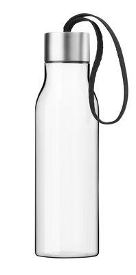 Tavola - Caraffe e Decantatori - Borraccia / Bottiglia da viaggio in plastica ecologica - 0,5 L - Eva Solo - Cordone nero / Plastica trasparente - Plastica ecologica