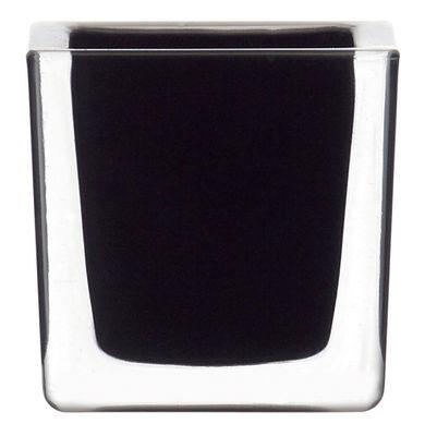 Bougeoir Cube - Leonardo noir en verre