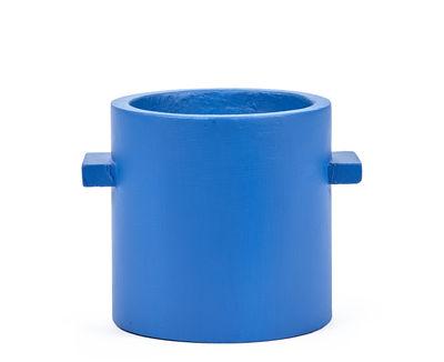 Cache-pot Concrete Rond / Béton - Ø 20 cm - Serax bleu californien en pierre