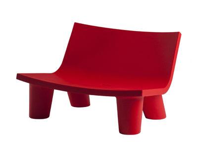 Canapé 2 places Low Lita Love / L 118 cm - Slide rouge en matière plastique