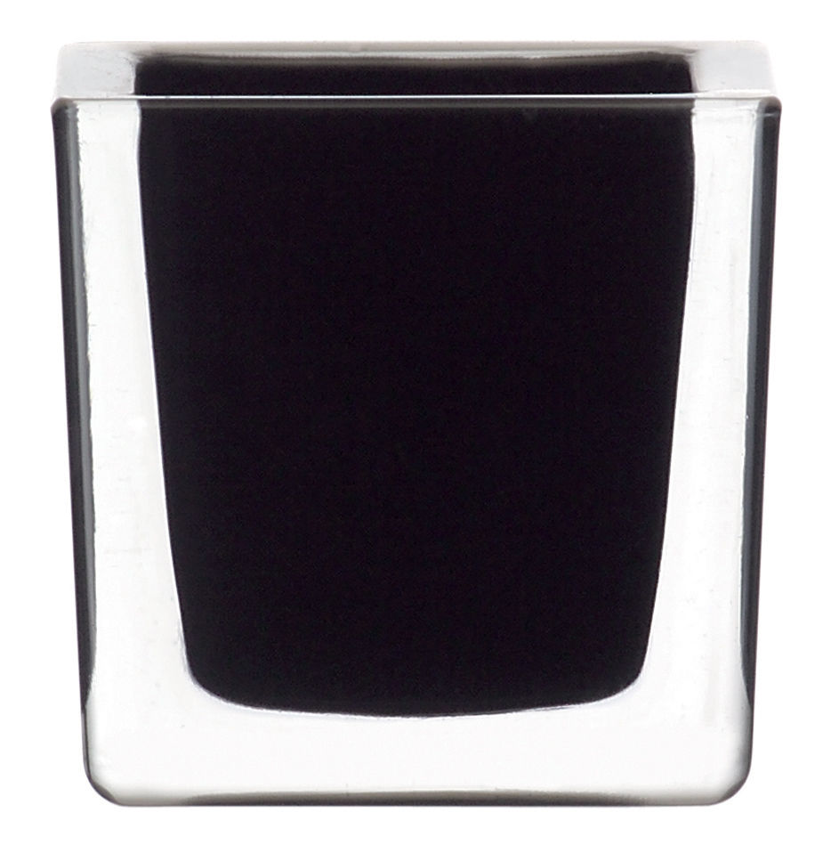 Decoration - Candles & Candle Holders - Cube Candle stick by Leonardo - Black - Glass