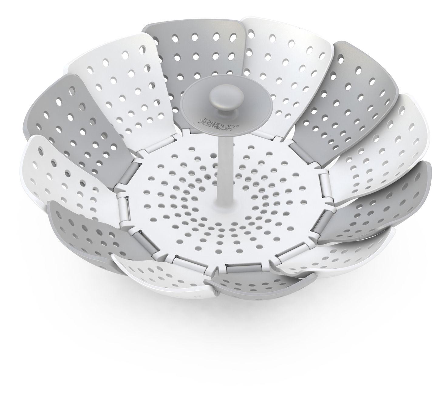 Cucina - Utensili da cucina - Cesto per cottura a vapore Lotus di Joseph Joseph - Bianco e grigio - Polipropilene, Silicone