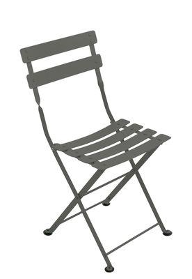 Chaise enfant Tom Pouce / Pliante - Acier - Fermob romarin en métal