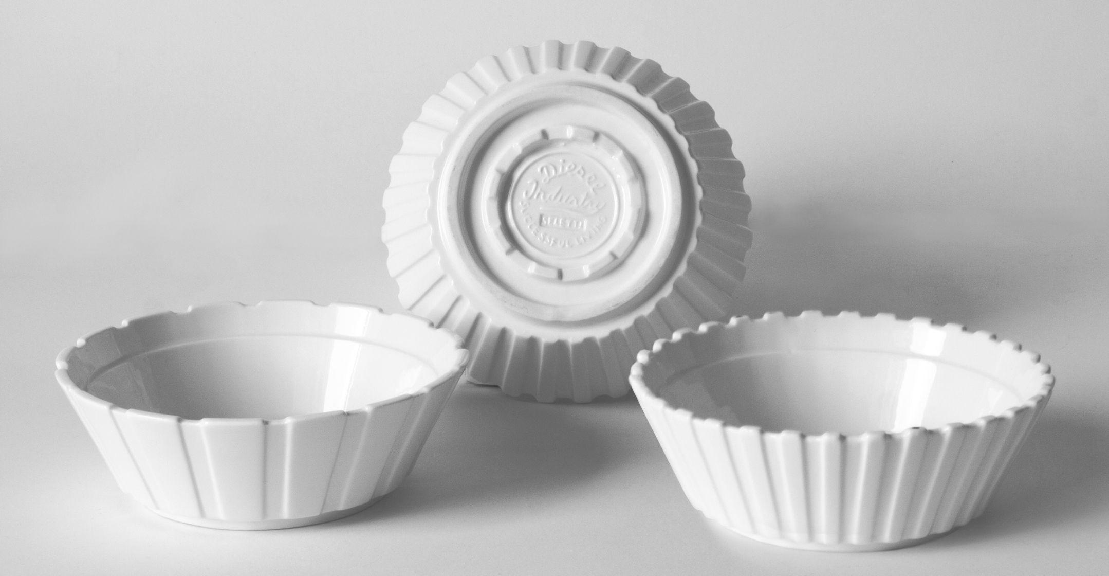 Tavola - Ciotole - Ciotola Machine Collection - / Ø 16,3 cm - Set da 3 di Diesel living with Seletti - Bianco - Porcellana