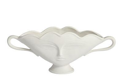 Déco - Vases - Coupe Giuliette small / Vase - Visages en relief - Jonathan Adler - Blanc - Porcelaine