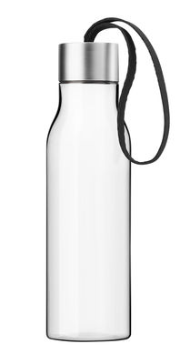 Tableware - Water Carafes & Wine Decanters - Flask - Plastique nomad bottle - 0.5 L by Eva Solo - Black cord - Ecological plastic