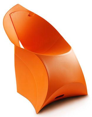 Furniture - Chairs - Flux Chair Folding armchair - Polypropylene by Flux - Orange - Polypropylene
