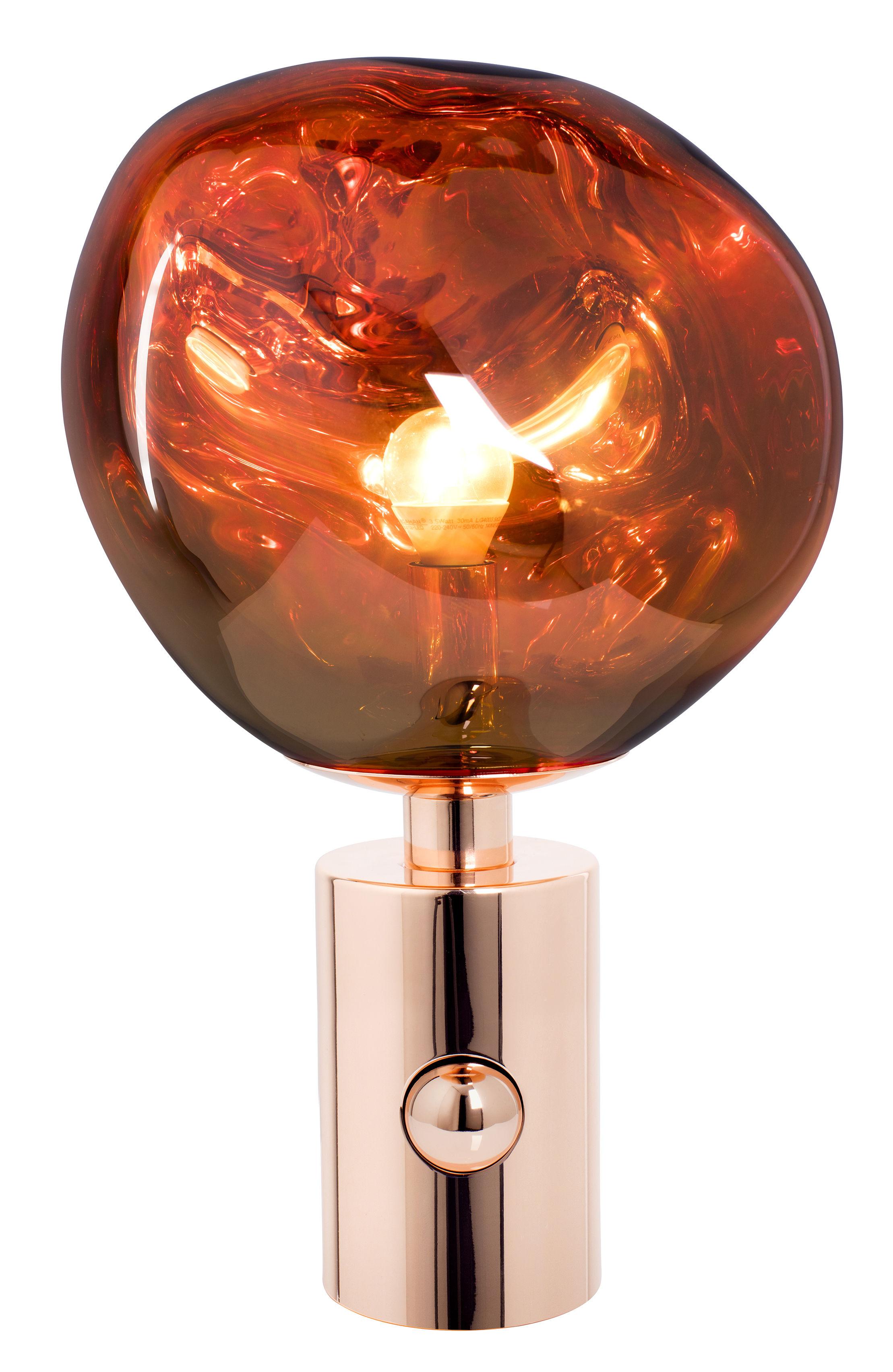 Illuminazione - Lampade da tavolo - Lampada da tavolo Melt / H 43 cm - Tom Dixon - Cuivre - Acciaio, policarbonato