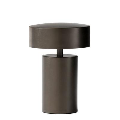 Illuminazione - Lampade da tavolo - Lampada senza fili Column - / LED - metallo di Menu - Bronzo - Alluminio