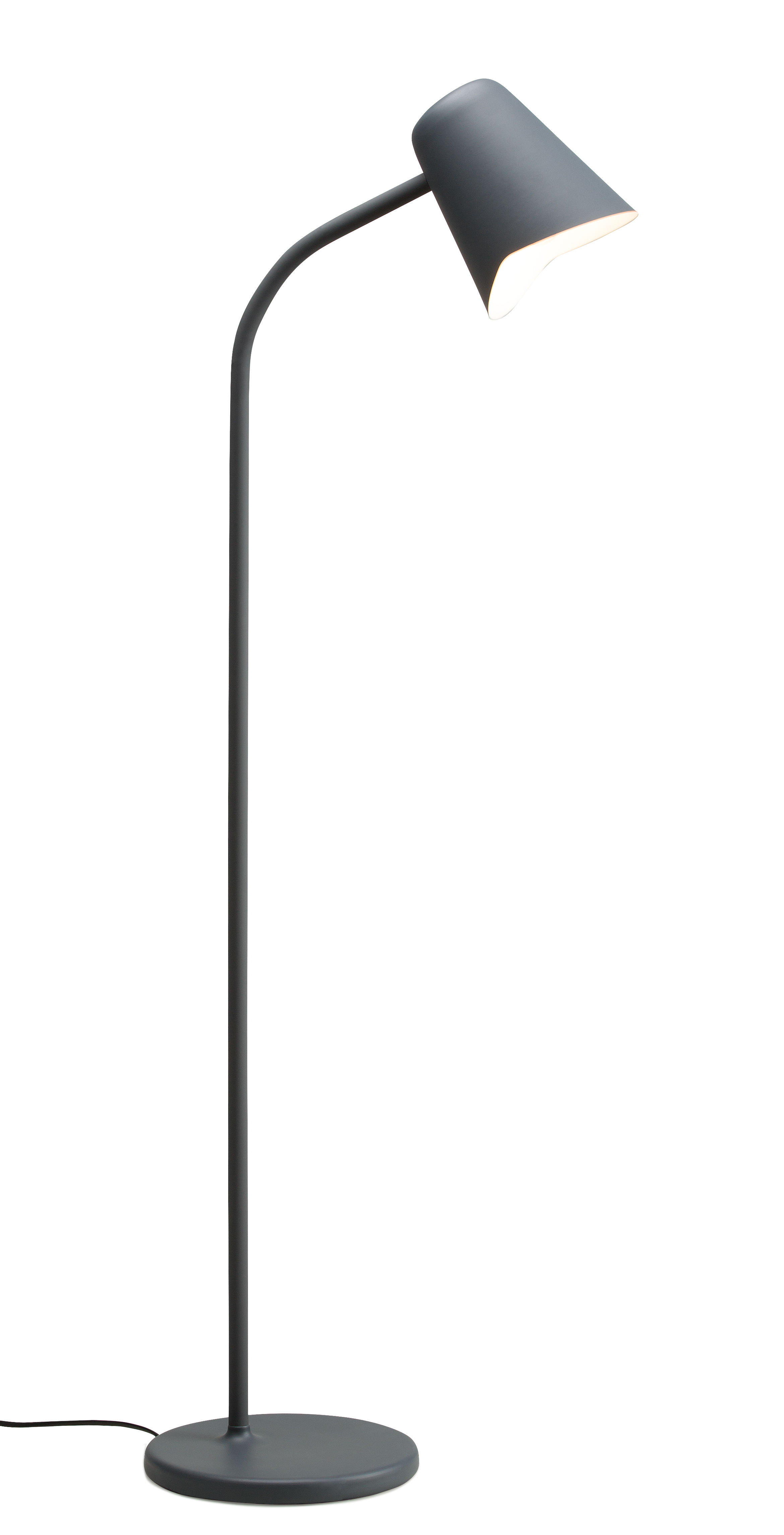 Luminaire - Lampadaires - Lampadaire Me / Métal - Orientable - Northern  - Gris - Acier, Silicone