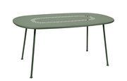 Table ovale Lorette 160 x 90 cm Métal perforé Fermob cactus en métal