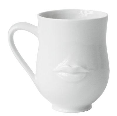 Tableware - Coffee Mugs & Tea Cups - Mr. & Mrs. Muse Mug by Jonathan Adler - White - China