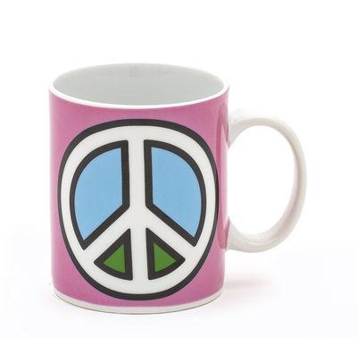 Mug Paix / Porcelaine - Seletti multicolore en céramique