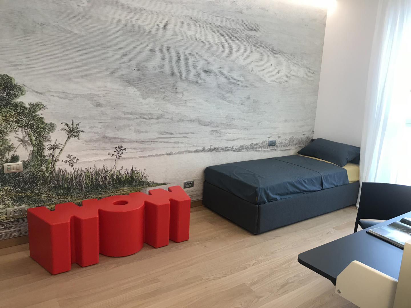 Panchina wow di slide rosso made in design for Arredamento made in china