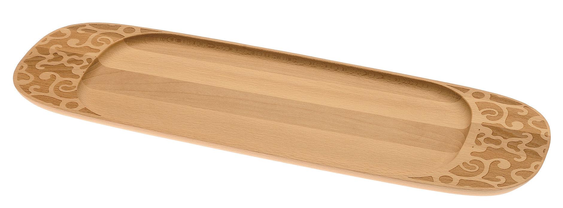Arts de la table - Plateaux - Plateau Dressed in Wood / 45 x 14 cm - Alessi - Bois naturel - Hêtre