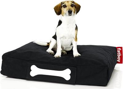 Pouf Doggielounge Stonewashed /Small - Fatboy L 80 cm x l 60 cm noir en tissu