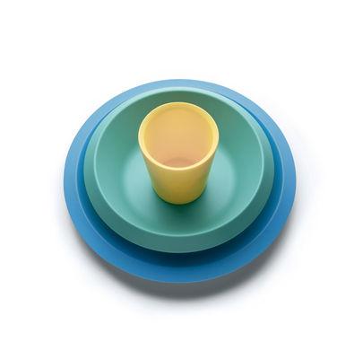 Déco - Pour les enfants - Set vaisselle enfant Giro Kids / 3 pièces - Mélamine - Alessi - Tons bleus - Mélamine