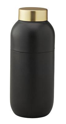Arts de la table - Thé et café - Shaker Collar / 500 ml - Avec doseur 2 & 4 cl - Stelton - Noir mat & Laiton - Acier inoxydable revêtu de Teflon - Acier inoxydable revêtu de laiton brossé