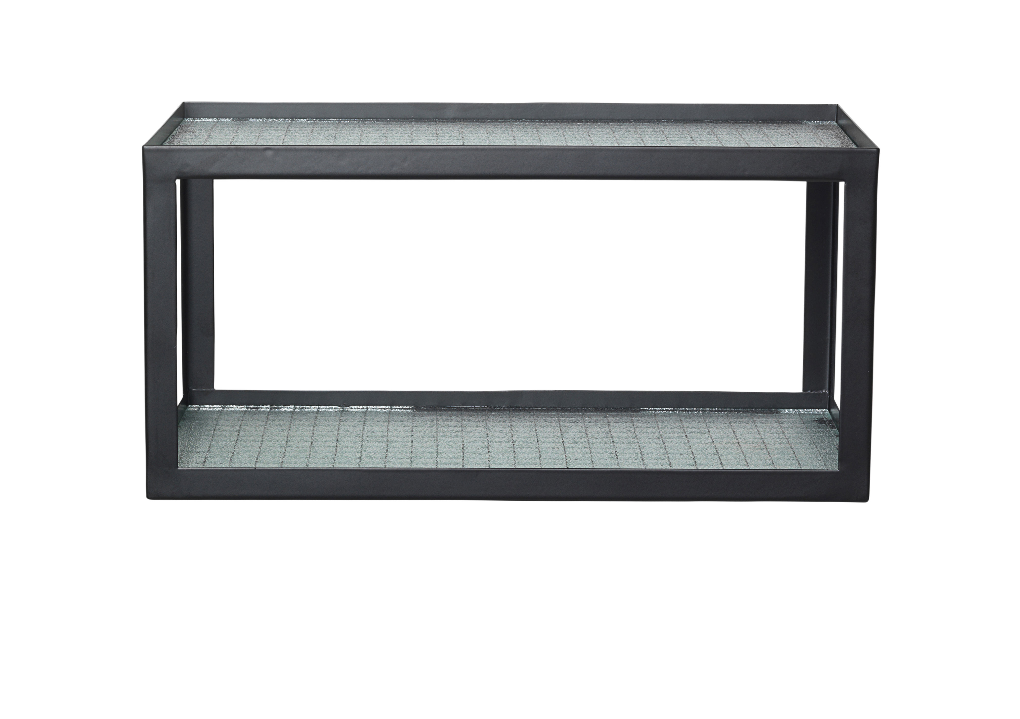 Furniture - Bookcases & Bookshelves - Haze Shelf - / L 35 cm - Reinforced glass & metal by Ferm Living - Black - Lacquered metal, Reinforced glass