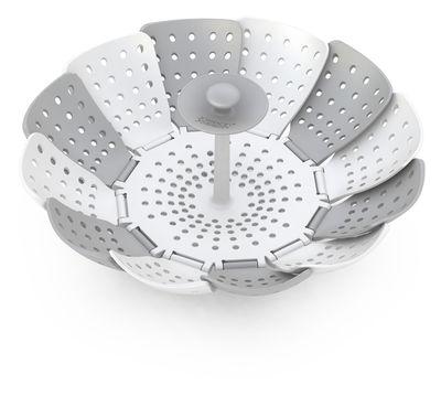 Kitchenware - Kitchen Equipment - Lotus Steam basket - Steamer basket by Joseph Joseph - White & grey - Polypropylene, Silicone