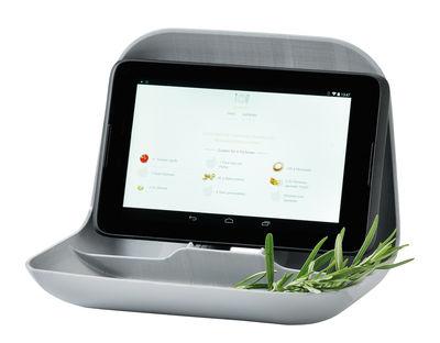 Accessoires - Accessoires bureau - Support pour tablette Private / Vide-poches - Koziol - Gris froid opaque - Matière plastique