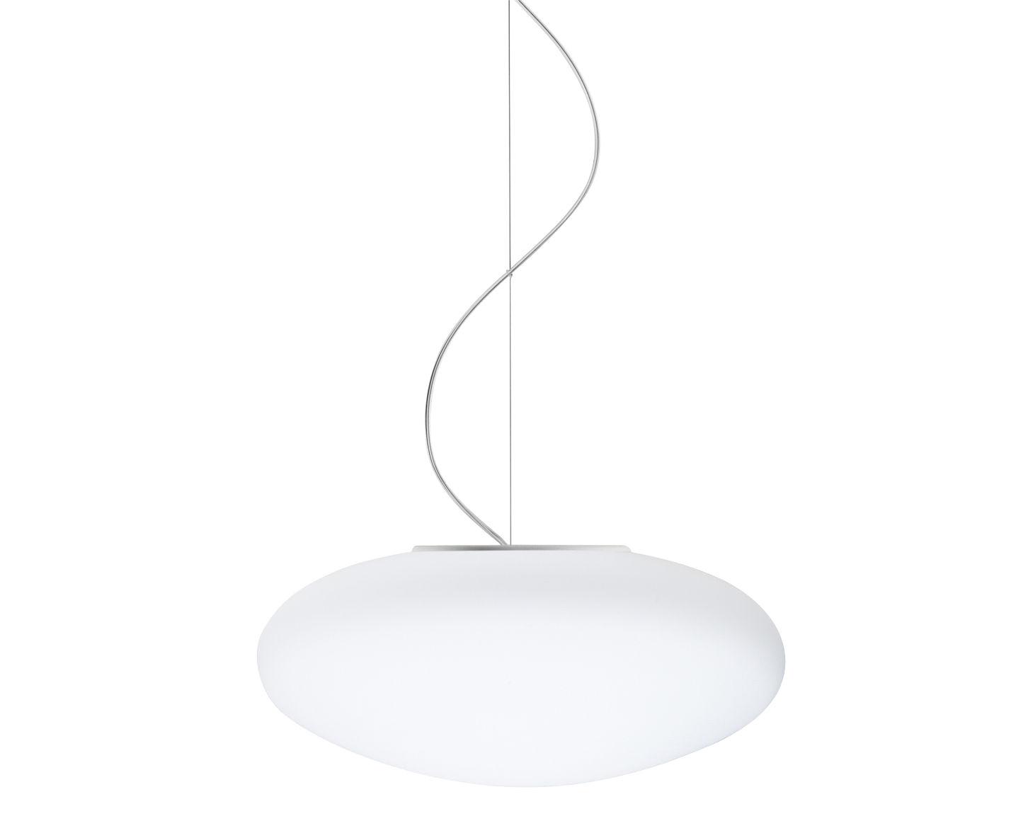 Luminaire - Suspensions - Suspension White LED / Ø 42 cm - Fabbian - Blanc - Verre soufflé