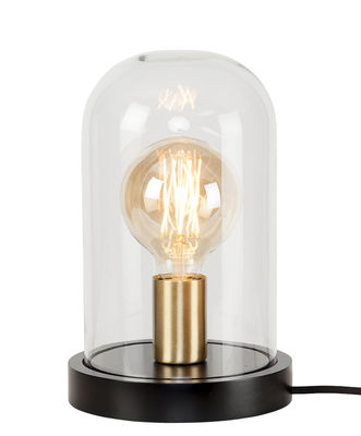 Lighting - Table Lamps - Seattle Table lamp - / H 29,5 cm by It's about Romi - Black / Transparent - Brass, Glass, Painted wood