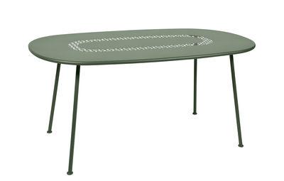 Table ovale Lorette / 160 x 90 cm - Métal perforé - Fermob cactus en métal