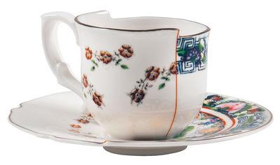 Tasse à café Hybrid Tamara Set tasse à café + soucoupe - Seletti multicolore en céramique