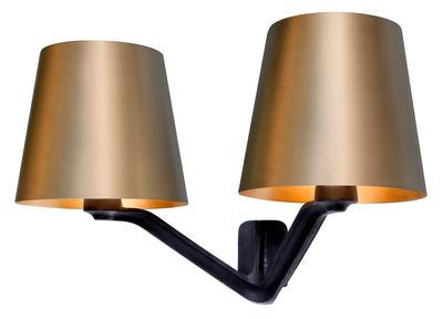 Lighting - Wall Lights - Base Wall light by Tom Dixon - Matt Gold / black - Brushed brass, Cast iron