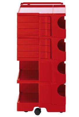 Möbel - Beistell-Möbel - Boby Ablage / H 94 cm - 6 Schubladen - B-LINE - Rot - ABS