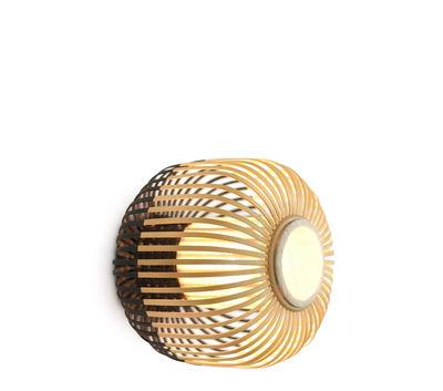 Applique Bamboo light XS / Plafonnier - Ø 27 x H 20 cm - Forestier noir,bambou naturel en tissu