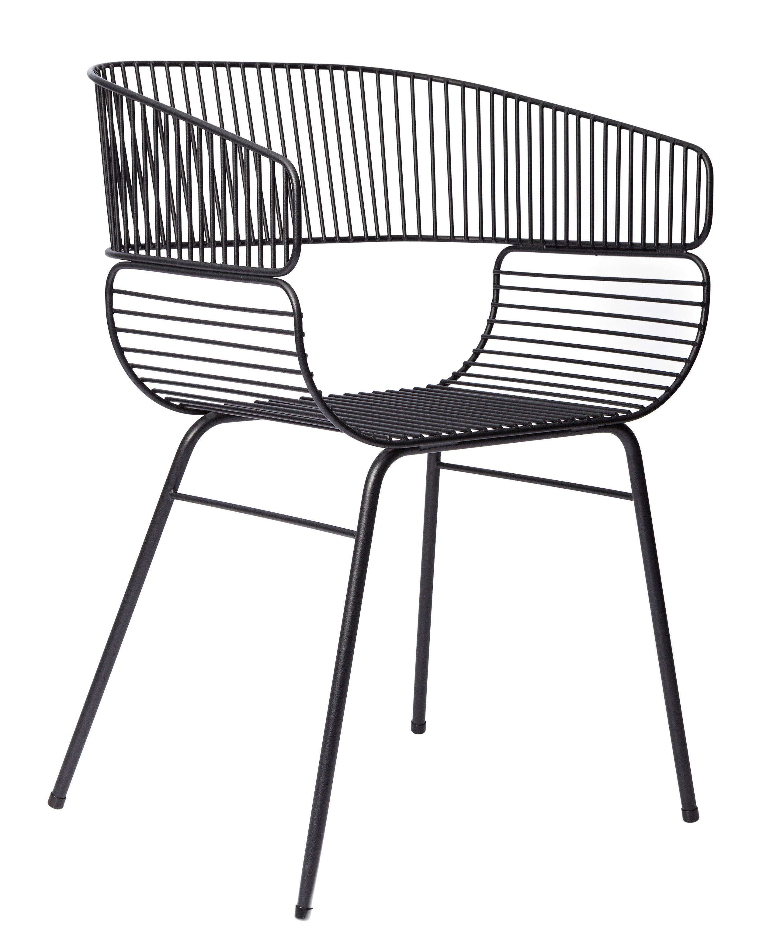 Furniture - Chairs - Trame Armchair - Metal by Petite Friture - black - Powder coated steel