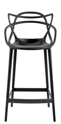 Furniture - Bar Stools - Masters Bar chair - H 65 cm - Polypropylen by Kartell - Black - Polypropylene