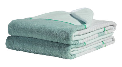 Accessories - Bathroom Accessories - Glass Green Bath towel by Hay - Blue / green - Cotton