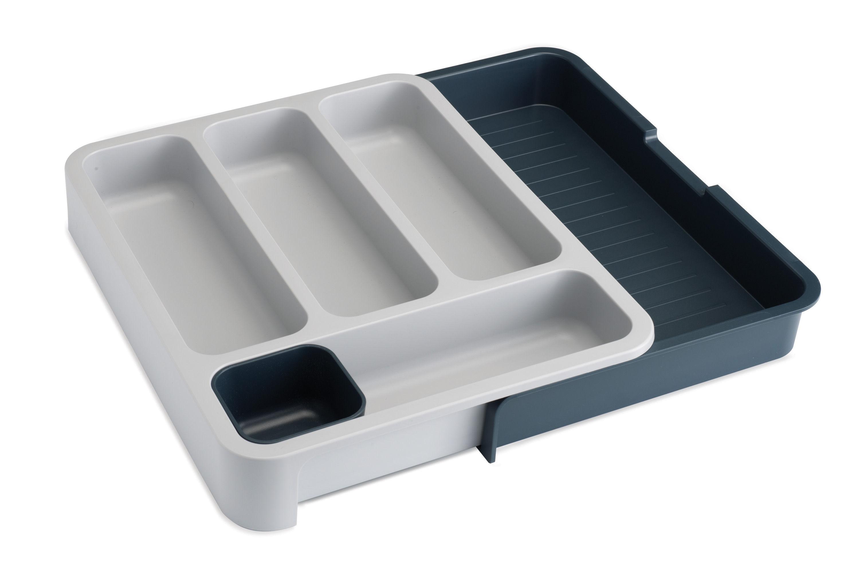 Küche - Einfach praktisch - DrawerStore Besteckhalter / ausziehbar - Joseph Joseph - Weiß / grau - Polypropylen