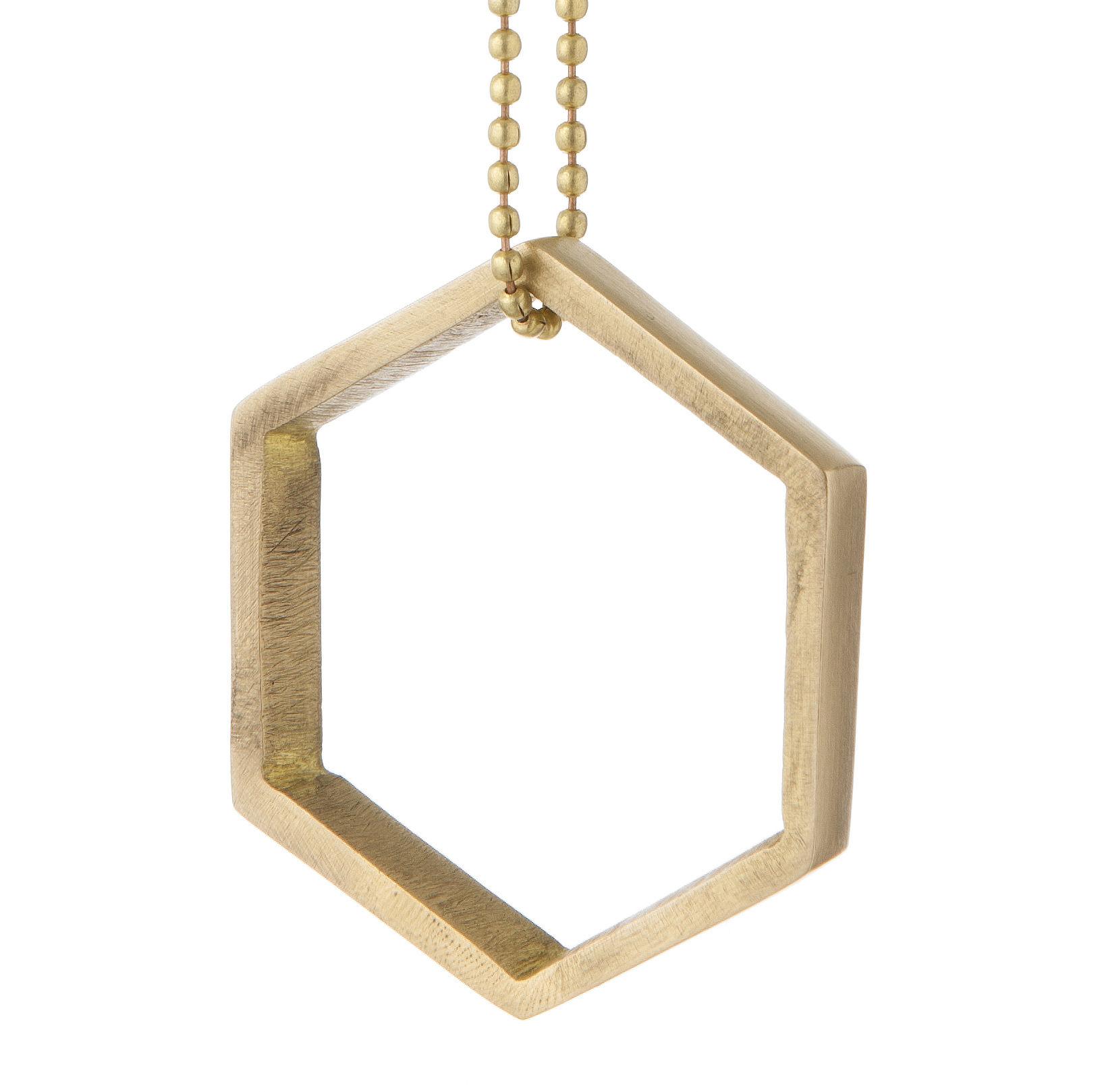 Déco - Objets déco et cadres-photos - Boule de Noël Brass Ornament / Hexagon - Ferm Living - Hexagon / Laiton - Laiton