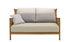 Canapé 2 places Elizabeth / L 126 cm - Teck & tissu - Cinna