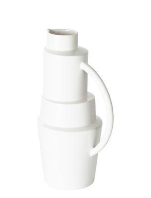 Arts de la table - Carafes et décanteurs - Carafe Block / 1 L - Tom Dixon - Blanc - Faïence émaillée