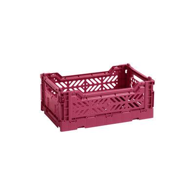 Image of Cestino Colour Crate - Small / 26 x 17 cm di Hay - Rosso - Materiale plastico