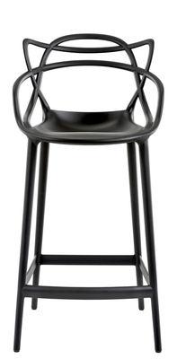 Chaise de bar Masters / H 65 cm - Polypropylène - Kartell noir en matière plastique