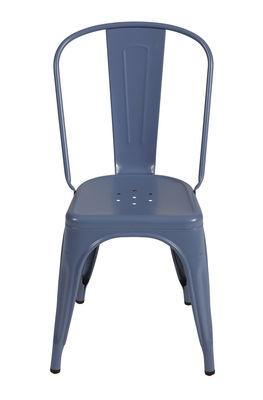 Chaise empilable A / Acier - Couleur mate texturée - Tolix myrtille mat grainé en métal