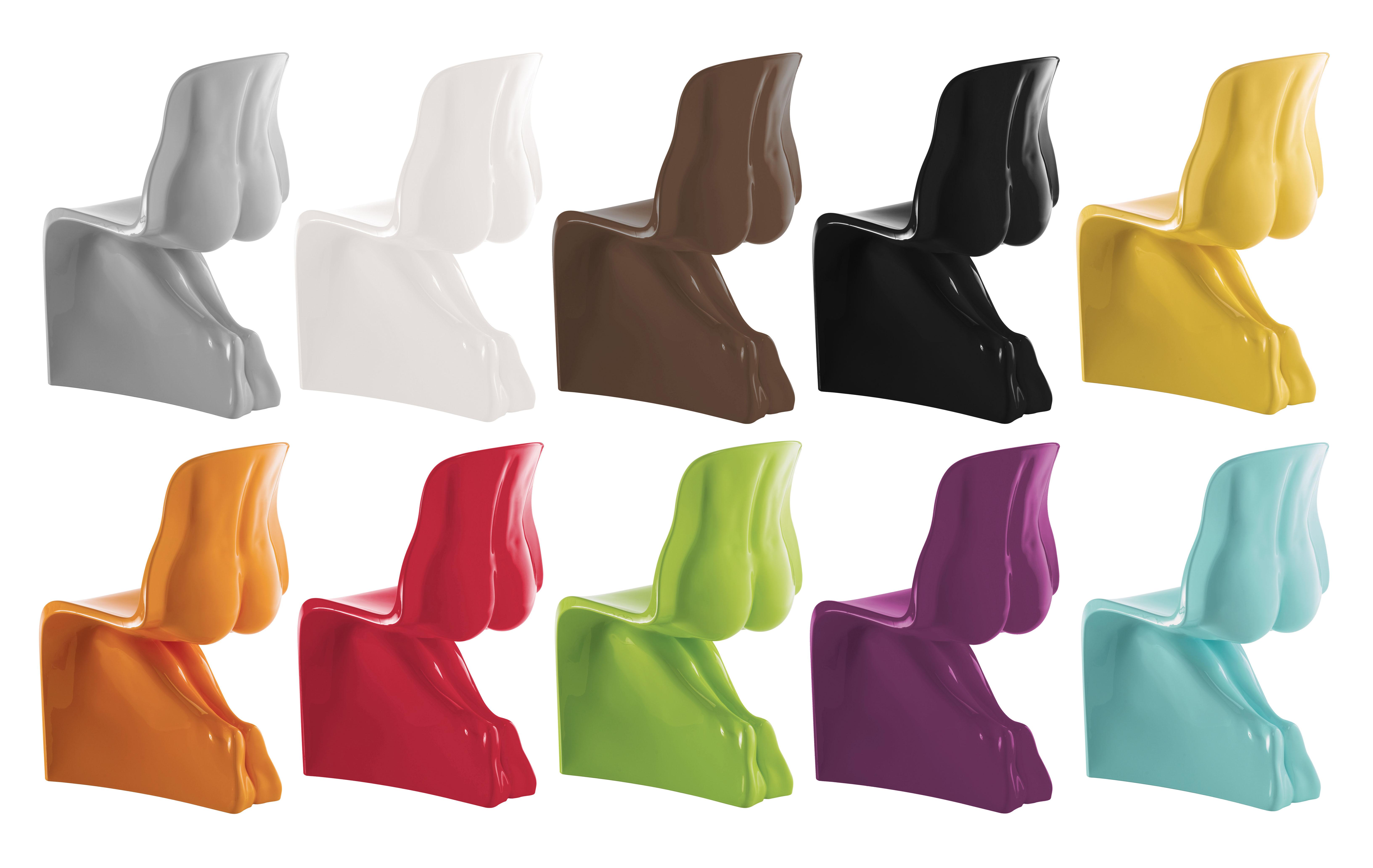 f923952f7ce Chaise Her laquée  Plastique Vert clair - Casamania