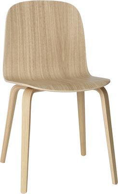 Mobilier - Chaises, fauteuils de salle à manger - Chaise Visu / Pieds bois - Muuto - Chêne naturel - Contreplaqué de chêne
