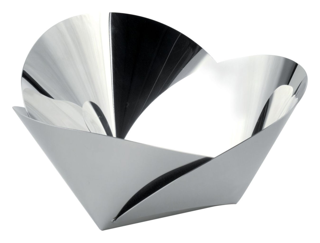 Arts de la table - Corbeilles, centres de table - Corbeille Harmonic / Ø 22 cm - Alessi - Acier poli - Acier inoxydable