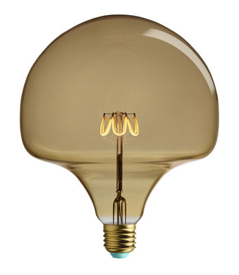Lighting - Light Bulb & Accessories - Wilma Filament LED bulb E27 - / 4.5W (28W) - 300 lumen by Plumen - Golden / H 17 cm - Glass