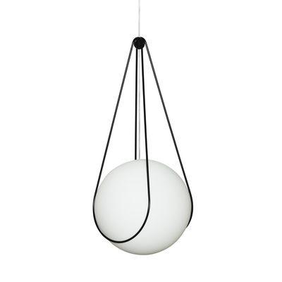 Leuchten - Pendelleuchten - Kosmos Halter / Zum Aufhängen Luna Small Ø 40 cm - Design House Stockholm - Ständer / Schwarz - Metall